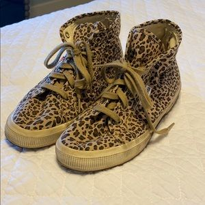 High top cheetah print Superga
